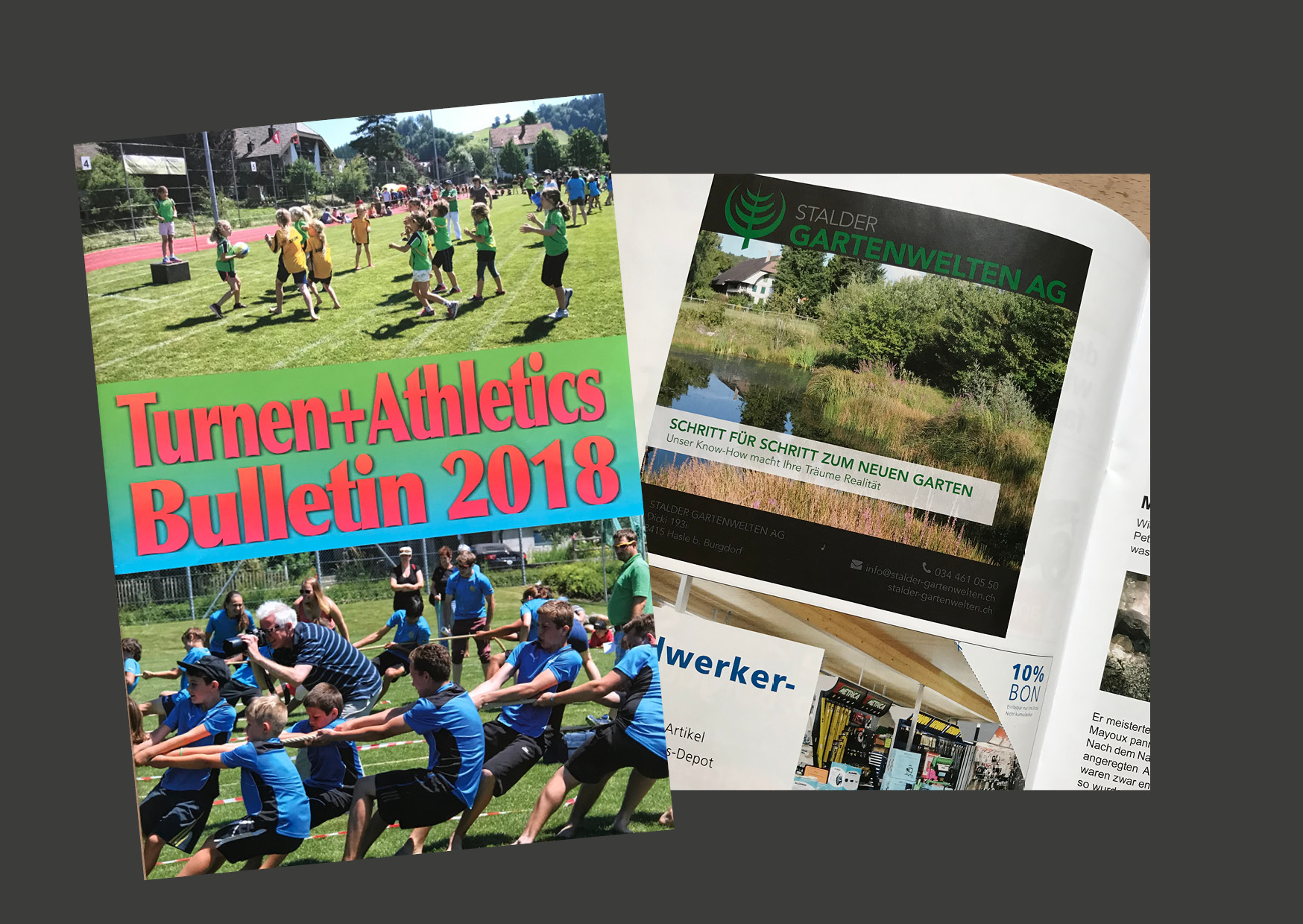 Inserat im Turnen + Athletics Bulletin 2018